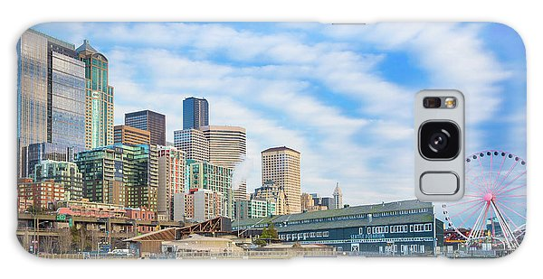 West Bay Galaxy Case - Waterfront Skyline by Inge Johnsson