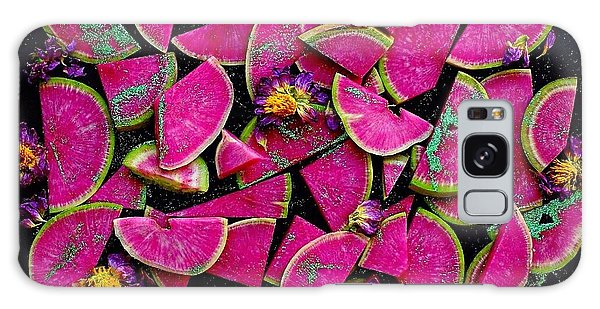Watermelon Radish Edges Galaxy Case