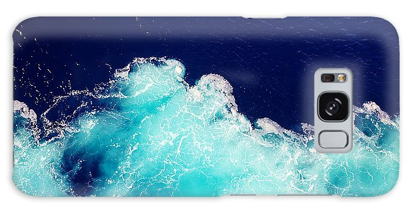 Bright Colors Galaxy Case - Wave Ocean Water Background by Olena Boronchuk