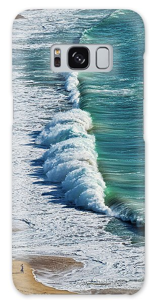Waves At Nazare Beach - Portugal Galaxy Case