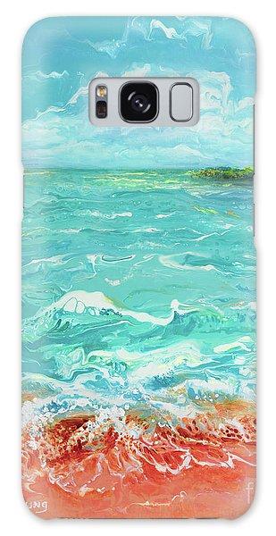 Waves At Sombrero Beach Galaxy Case