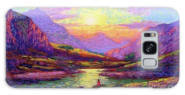 Mountain Lake Galaxy Case - Waves Of Illumination by Jane Small
