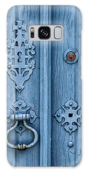 Weathered Blue Door Lock Galaxy Case