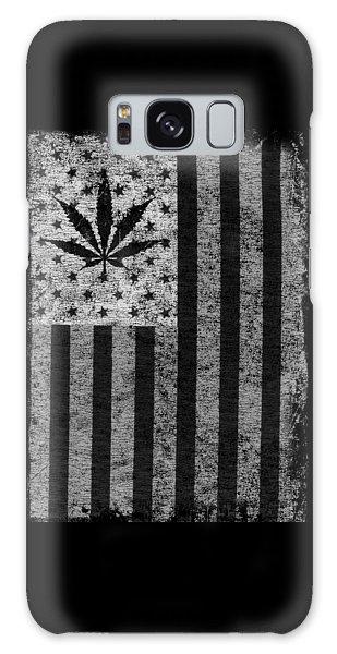 Weed Leaf American Flag Us Galaxy Case