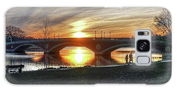 Weeks Bridge At Sunset Galaxy Case