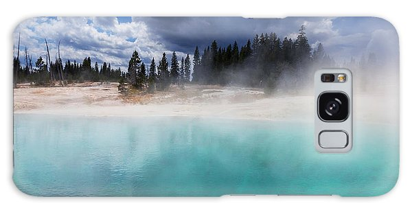 Travel Destinations Galaxy Case - West Thumb Geyser Basin In Yellowstone by Galyna Andrushko