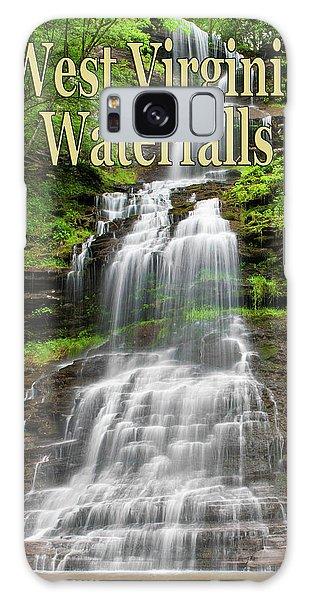 West Virginia Waterfalls Poster Galaxy Case