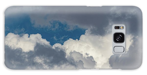 White And Gray Clouds Galaxy Case