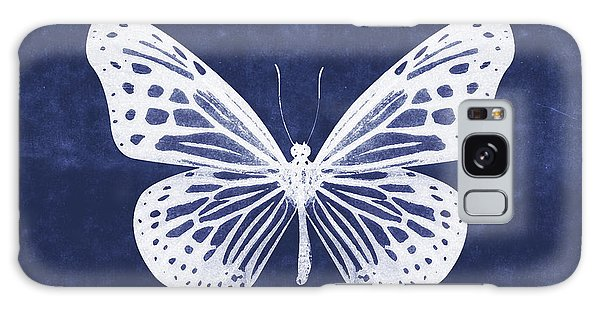 Insect Galaxy Case - White And Indigo Butterfly- Art By Linda Woods by Linda Woods