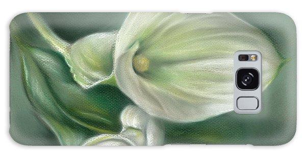 White Callas With Leaf Galaxy Case
