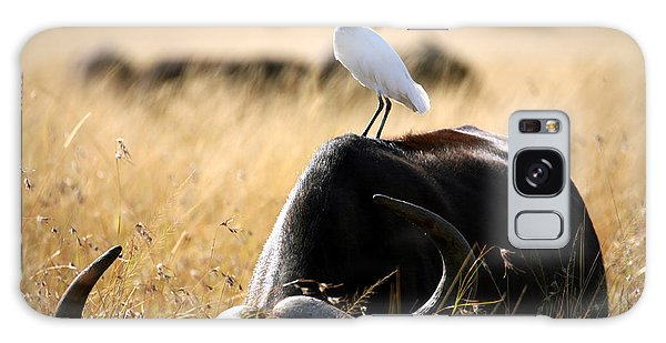 Egret Galaxy Case - White Cattle Egret Hitching A Ride On by Paul Banton