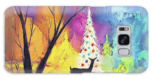 Bethlehem Galaxy Case - White Christmas Tree by Munir Alawi