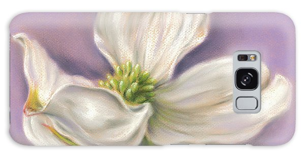 White Dogwood On Purple Galaxy Case