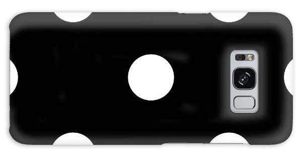 White Dots On A Black Background- Ddh612 Galaxy Case