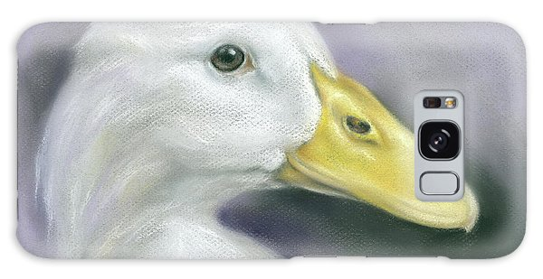 White Duck On Purple Galaxy Case