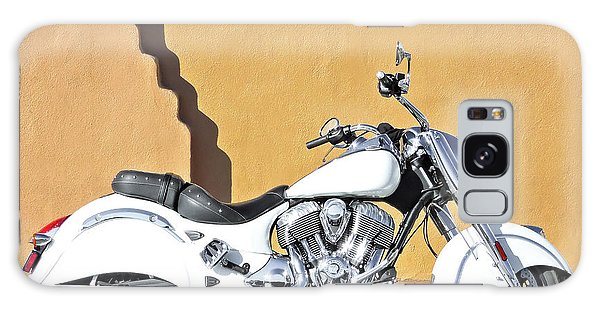 White Indian Motorcycle Galaxy Case