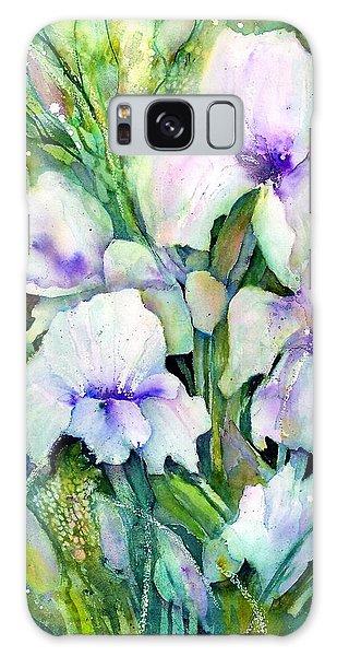 White Iris Spring Garden Galaxy Case