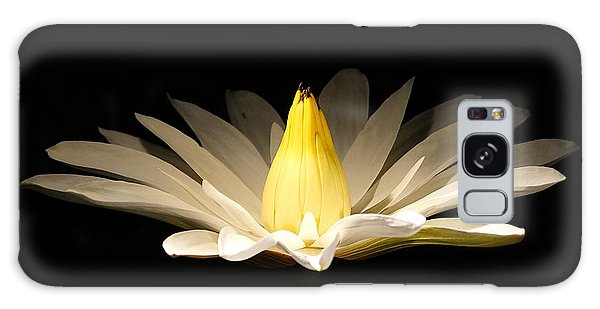 White Lily At Night Galaxy Case