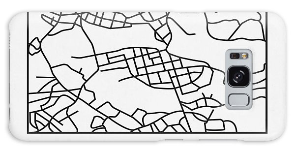 Sweden Galaxy Case - White Map Of Stockholm by Naxart Studio