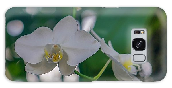 White Orchid Galaxy Case