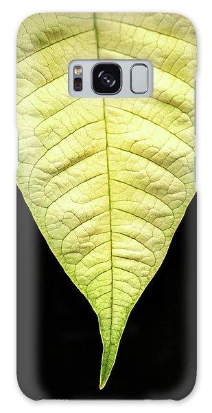 White Poinsettia Leaf Galaxy Case