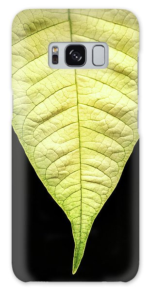 White Poinsettia Leaf Galaxy Case
