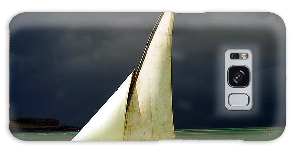 Navigation Galaxy Case - White Sailed Pirogue On The Ocean by Paul Banton