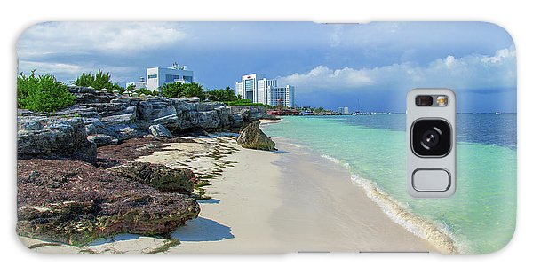 White Sandy Beach Of Cancun Galaxy Case