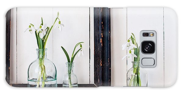 Cottage Galaxy Case - White Spring Flowers Snowdrops In by Daria Minaeva