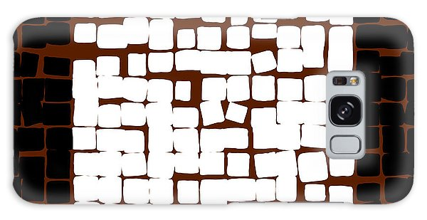 Galaxy Case featuring the digital art White Square 17x17 by Attila Meszlenyi