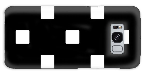 White Squares On A Black Background- Ddh576 Galaxy Case
