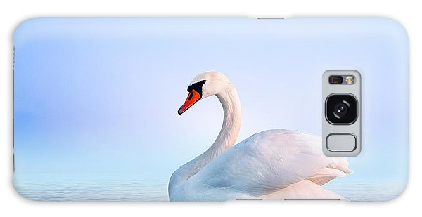 Great Lakes Galaxy Case - White Swan In The Foggy Lake At The by Dima Zel