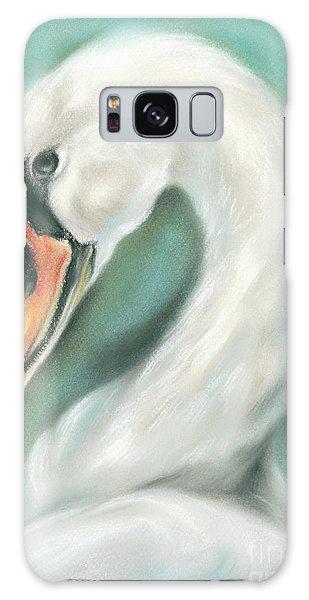 White Swan Portrait Galaxy Case