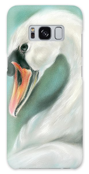 White Swan Portrait Galaxy Case