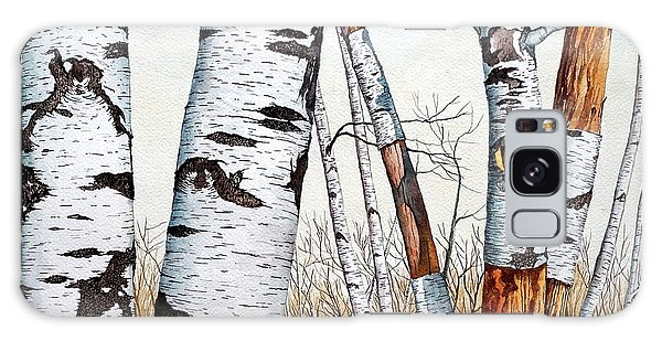 Wild Birch Trees In The Forest In Watercolor Galaxy Case
