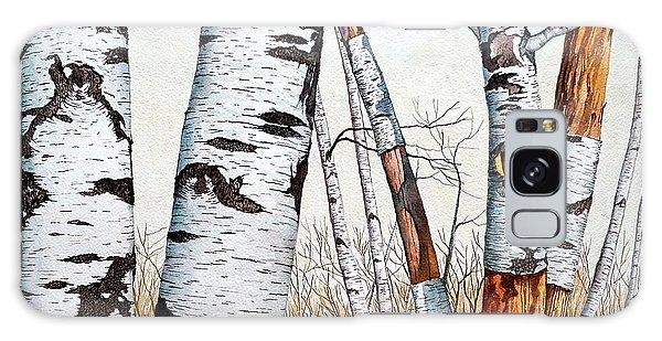 Wild Birch Trees In The Forest Galaxy Case