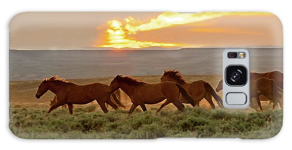 Wild Horses At Dusk Galaxy Case