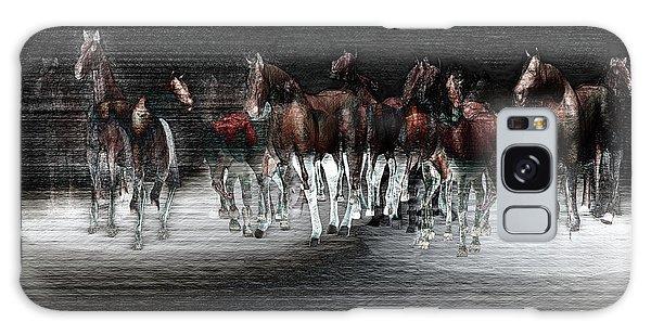 Wild Horses Under Spotlight Galaxy Case