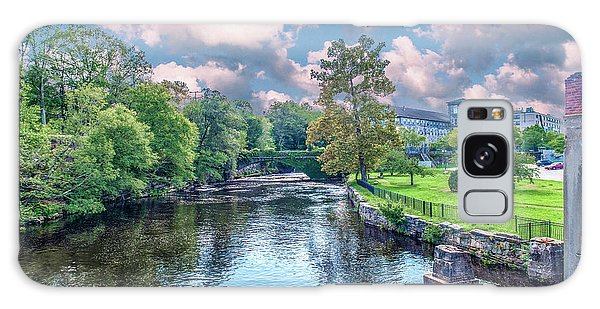 Willimantic River With Clouds Galaxy Case
