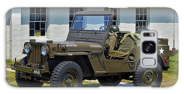 Galaxy Case featuring the photograph Willys Army Jeep 20899516 At Fort Miles by Bill Swartwout Fine Art Photography