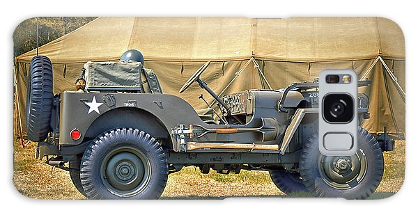 Galaxy Case featuring the photograph Willys Jeep U S A 20899516 At Fort Miles by Bill Swartwout Fine Art Photography