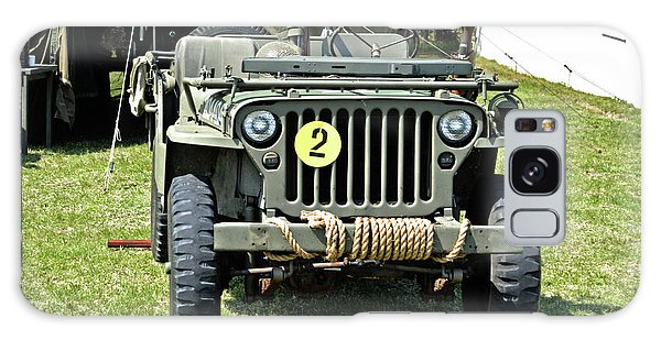 Galaxy Case featuring the photograph Willys Jeep With Machine Gun At Fort Miles by Bill Swartwout Fine Art Photography
