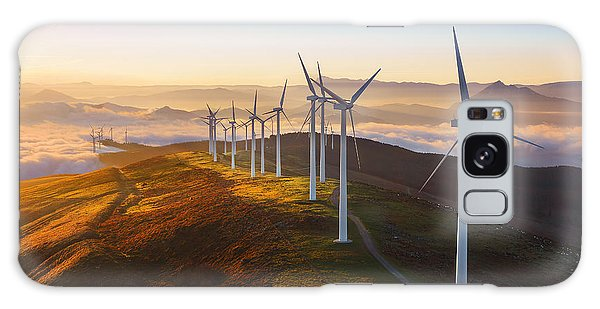 Ecology Galaxy Case - Wind Turbines In The Oiz Eolic Park by Mimadeo