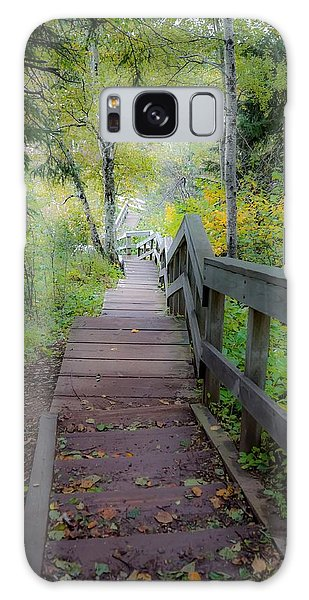 Winding Stairs In Autumn Galaxy Case