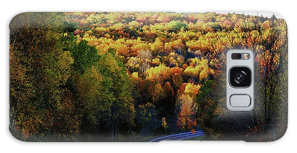 Winding Through Vermont Fall Foliage Galaxy Case