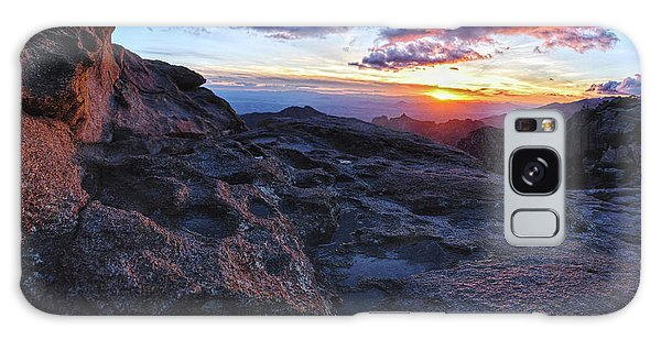Windy Point Sunset Galaxy Case