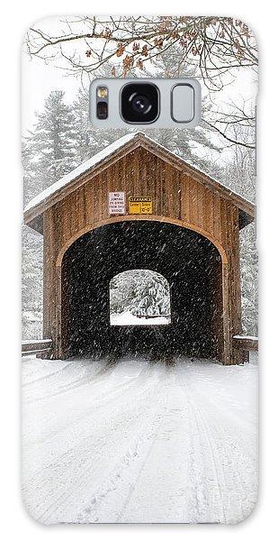 Winter At Babb's Bridge Galaxy Case