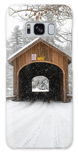 Winter At Babb's Bridge Galaxy Case