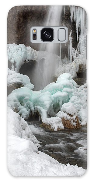 Winter At Rifle Falls Colorado Galaxy Case