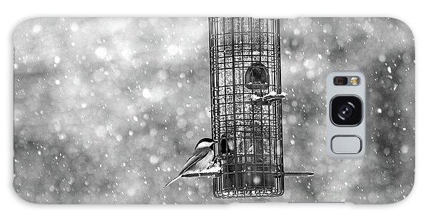 Chickadee Galaxy S8 Case - Winter Blessing Chickadee by Betsy Knapp